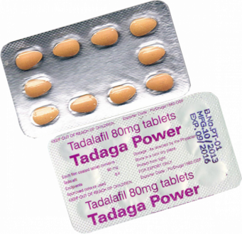 Tadaga POWER 80 mg Tadalafil tabletter